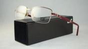Mont Blanc Mb 488 028 Shiny Rose Gold Half Rim Glasses Eyeglasses Frames Size 56