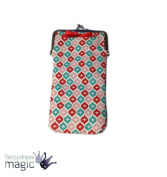 Gisela Graham Fabric Glasses Spectacles Sunglasses Soft Case Holder Red Bow