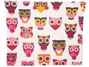 Premium Microfiber Owl Print Spectacle Glasses Lens Cleaning Cloth 18cm X 15cm