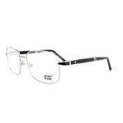 Mont Blanc Glasses Frames 0529 016 Shiny Palladium Black