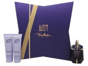 Thierry Mugler Alien Set 30ml Edp + 50ml Body Lotion + 50ml Shower Gel. New