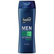Suave Men Anti Dandruff Deep Clean Mint Refresh Shampoo, 370ml