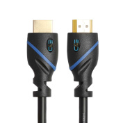 C & amp;E High Speed HDMI Cable (Black) Supports Ethernet, 3D and Audio Return Newest Standard, 6.1m