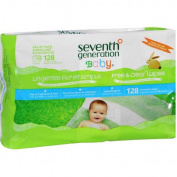 Seventh Generation Baby Free & Clear Baby Wipes, 128 sheets,
