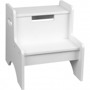 Levels of Discovery White 2-Step Stool