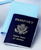 BABY BLUE PASSPORT COVER,