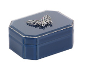 Exalted Butterfly Glass Box, Blue