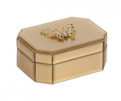 Congenial Wood Butterfly Glass Box
