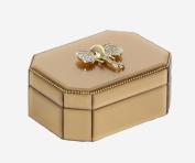 Ambrosial Wood Elephant Glass Box, Golden