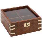Decmode Wood and Glass Box, Multi Colour