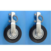 Gate Helper Wheel for Supporting Gates with 2.5cm - 1cm thru 5.1cm Gate Frames - Gate Helper Wheel to Prevent Gate from Dragging - Gate Support Wheel - 2 PACK