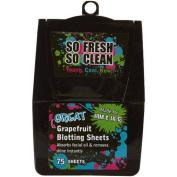 So Fresh So Clean Great Grapefuit Blotting Sheets, 75 ct