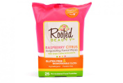 Rooted Beauty Facial Wipes, Green Coffee, 25 Ct