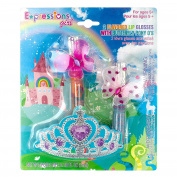 Expressions Girl Lip Gloss & Butterfly Hair Elastics, 4 Ct
