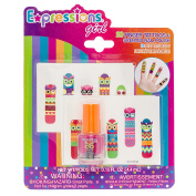 Expressions Girl Finger Tattoo & Polish 21-Piece Set