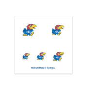 Kansas Jayhawks Fingernail Tattoos - 4 Pack