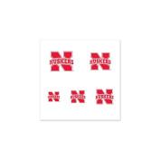 Nebraska Cornhuskers Fingernail Tattoos - 4 Pack