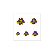 East Carolina Pirates Fingernail Tattoos - 4 Pack