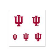 Indiana Hoosiers Fingernail Tattoos - 4 Pack