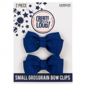 Create Out Loud Hair Bow Barrette Set in Blue Royal Grosgrain