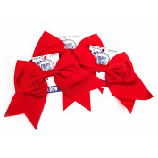 Horizon Group USA Create Out Loud Red Grosgrain Hair Bow, 3pk