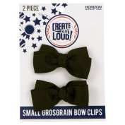 Create Out Loud Hair Bow Barrette Set in Black Grosgrain