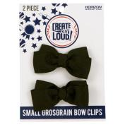 Create Out Loud Hair Bow Barrette Set in Black Grosgrain