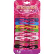 Enchante Accessories Kids Glitter Snap Clips, 18 ct