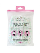 Gal Pal Secure & Dry Headband, Green/Flowers