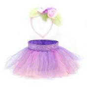 TuTu Basket/Headband Set, Purple