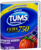 TUMS E-X 750 Tablets Assorted Berries 24 ea