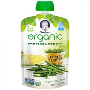 Gerber Organic 2nd Foods Baby Food, Green Beans & Sweet Corn, 100ml Pouch