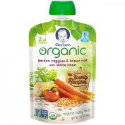 Gerber Organic 2nd Foods Garden Veggies & Brown Rice with White Bean Baby Food, 100ml