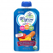 Go & Grow by Similac Fruit and Veggie Pouches with OptiGRO™, Apple, Butternut Squash, Banana, Blueberry Puree, For Toddlers, Organic Baby Food, 120mls