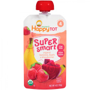 Happy Tot® Organics Super Smart™ Organic Bananas, Beets & Strawberries Fruit & Veggie Blend 120ml Pouch