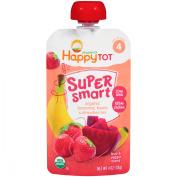Happy Tot® Organics Super Smart™ Organic Bananas, Beets & Strawberries Fruit & Veggie Blend 120ml Pouch