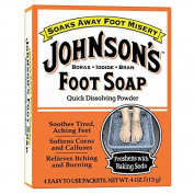3 Pack - JOHNSON'S Foot Soap Powder Packets 4 Each