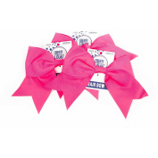 Horizon Group USA Create Out Loud Pink Grosgrain Hair Bow, 3pk