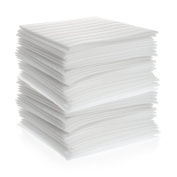 """100 Count - 12"""" x 12"""" Cushion Foam Sheets, Packing Supplies for Moving, Safely Wrap Dishes, Glasses & Furniture Legs by California Basics"""