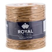 Natural Floral Bind Wire Wrap, Paper Covered Waterproof Rustic Vine for Flower Bouquets 26 Gauge (210m) by Royal Imports
