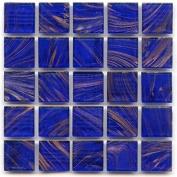 1.9cm Mosaic Tile - P 42 Cobalt - 0.5kg bag Hakatai Brand Glass Tile