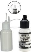 Ranger Multi Medium Bottle, 15ml, Matte with a Precision Tip Glue Applicator Bottle, 15ml