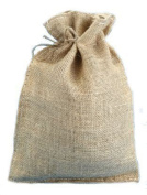 25cm X 36cm Burlap Bags with Drawstring - Lot of 10
