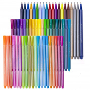 60 Fineliner Colour Pen Set, Tanmit 0.4 mm Fine Line Sketch Drawing Pens, Porous Journal Markers Pen Perfect for Colouring Book and Journaling