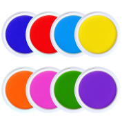 GooMart 8 Colours Washable Large Ink pads for Rubber Stamps Kids