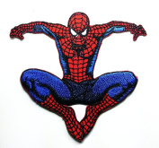 Spiderman Web Superhero Cartoon Patch Embroidered Iron on Hat Jacket Hoodie Backpack Ideal for Gift/ 10cm(w) X 9.2cm