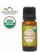US Organic 100% Pure Bergamot Essential Oil - USDA Certified Organic, Cold Pressed - W/ Euro droppers (More Size Variations Available)