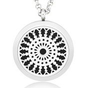Freedi Essential Oil Diffuser Necklace with Chain and 5 Pads Aromatherapy Perfume Pendant
