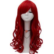 """Netgo Red Cosplay Wig 26"""" 65cm Long Wavy Fashion Women's Heat Resistanmt Sythetic Halloween Costume Party Wigs"""