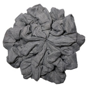 Grey scrunchie Set, Set of 10 Soft Heather Grey Cotton Scrunchies, Solid Colour Packs